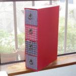 カルトナージュ:4つの小引き出し付き隙間ボックス