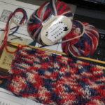 セリアの毛糸でレッグウォーマー
